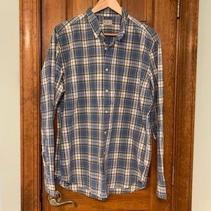 Long sleeve plaid J Crew shirt